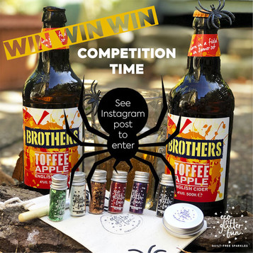 Get your creepy claws on some Brothers Toffee Apple Cider & Halloween Eco Glitter Fun kit