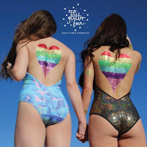 Bio Glitter makeup ideas for Ibiza pool party