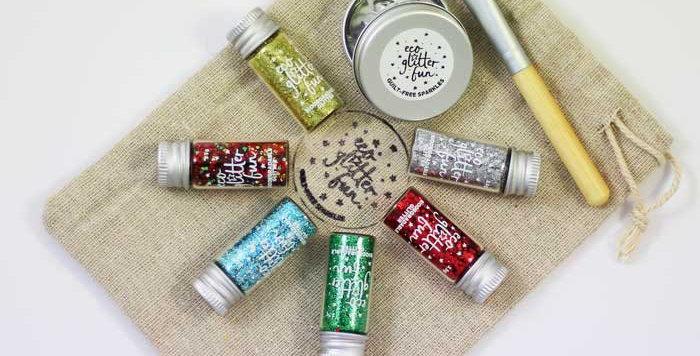 Christmas set of biodegradable glitter
