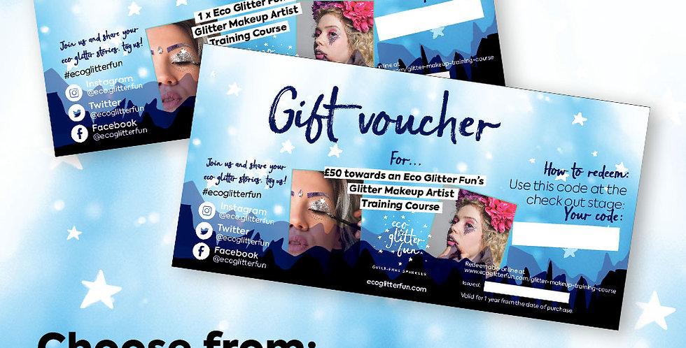 Eco Glitter Makeup Artist Training Gift Voucher