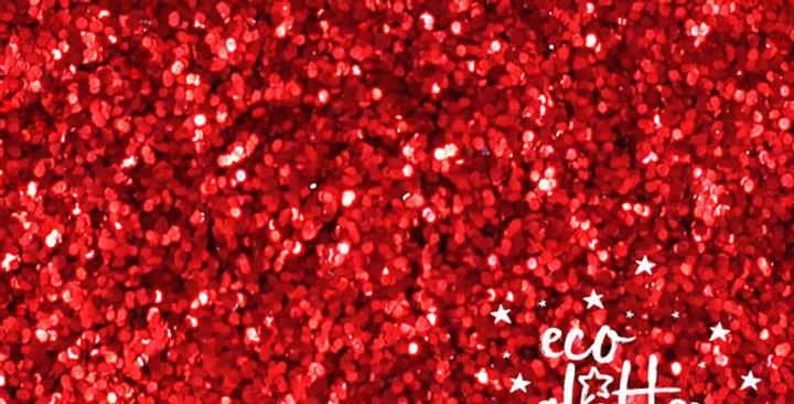rojo chunky, biodegradable glitter