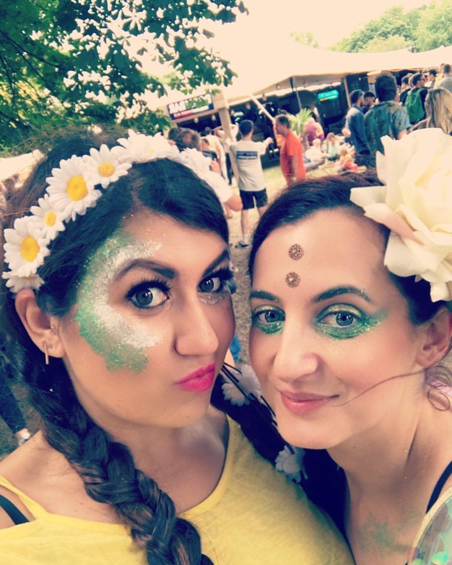 Festival glitter booths