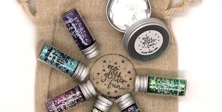 blends set of biodegradable glitter