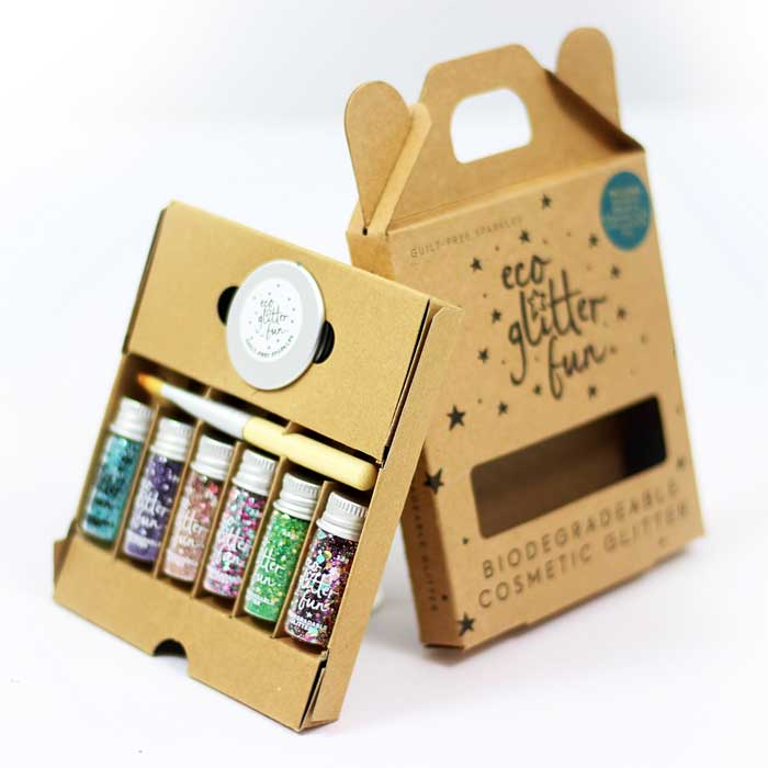 The perfect vegan, eco friendly and plastic free Christmas gift for glitter lovers.