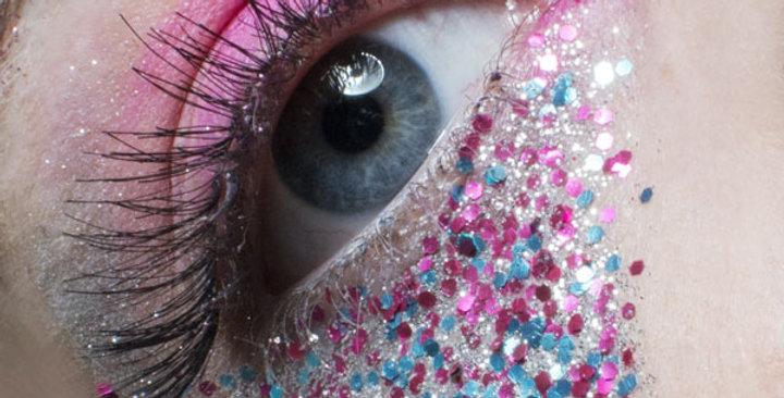 Candy floss blend, biodegradable glitter