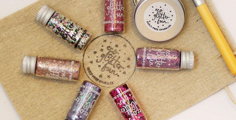 pinky set of biodegradable glitter