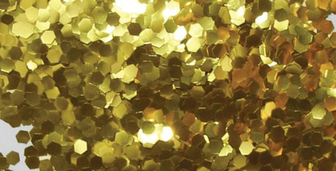 aurelie gold uber chunky, biodegradable glitter