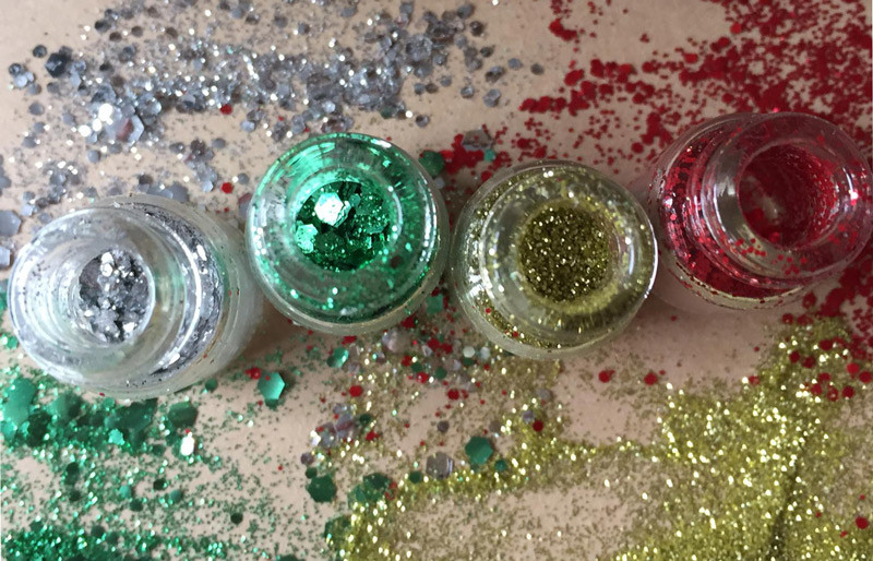 Christmas craft glitter sets from eco glitter fun