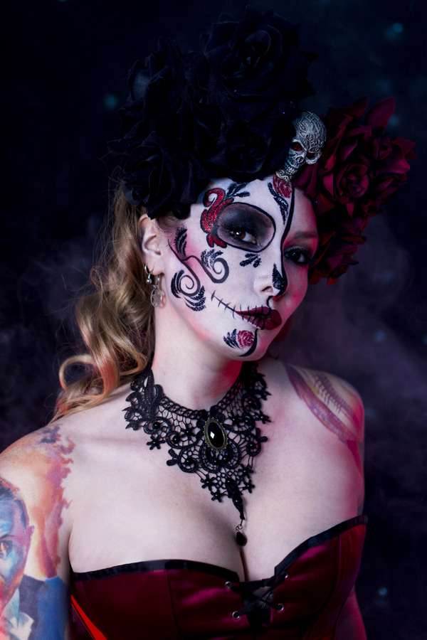 glitter skull makeup ideas