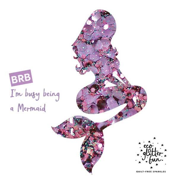Mermaid glitter braids kit