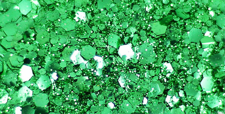 Verde green uber disco blend of biodegradable glitter