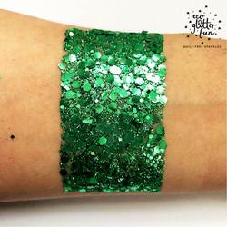 Green uber disco ball BioGlitter