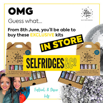 You can now buy exclusive Eco Glitter Fun kits in-store at Selfridges