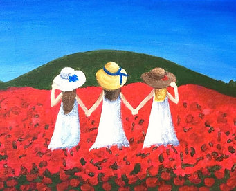 Friends.. through flowers and the hills of life