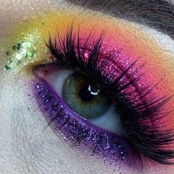 EcoGlitterFun - Neon makeup Looks - 2019