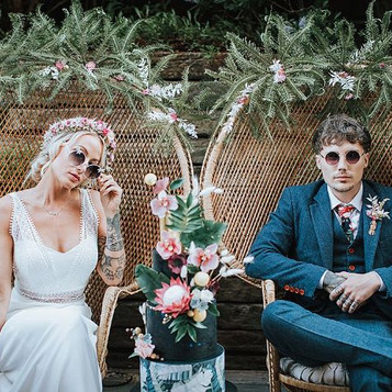 An eclectic tropical styled wedding shoot with Festival Brides Magazine