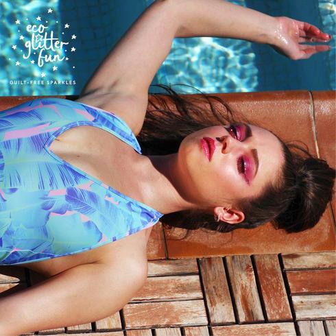 Ibiza club eco glitter makeup ideas