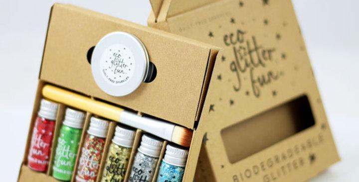 Christmas boxed kit of biodegradable glitter