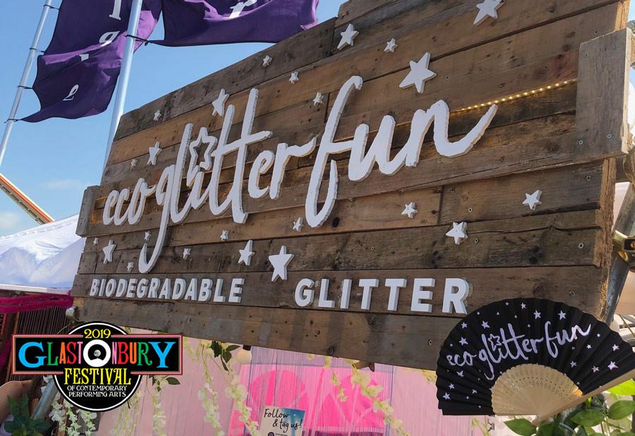 Eco Glitter funs' Festival Glitter Stall at Glastonbury 2019