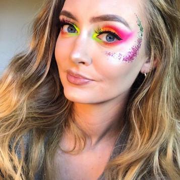 Eco Glitz up your NEON Makeup look