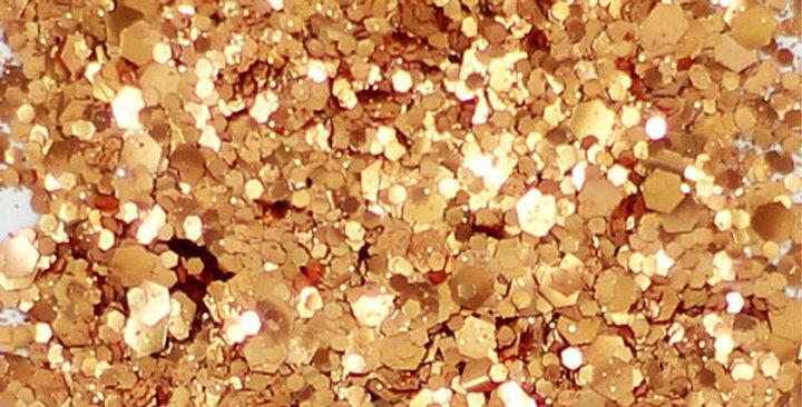 brûlée orange uber chunky disco ball blend of biodegradable glitter