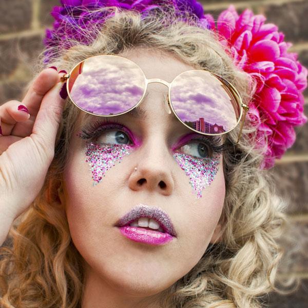 Candy floss eco glitter makeup