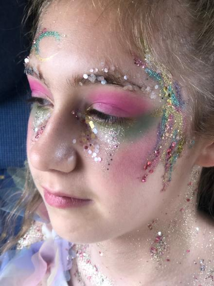 Fairy Glitter makeup, with Eco Glitter Fun Eco at Chatsworth Flower Show