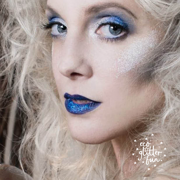 eco glitter witch makeup