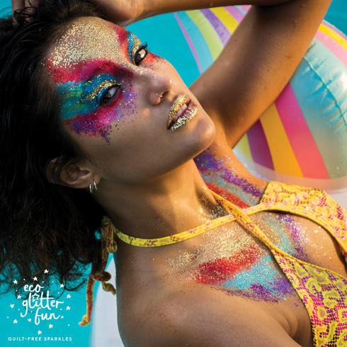 Glitter makeup ideas for Pool party