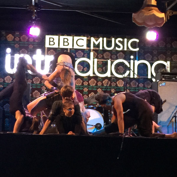 BBC Introducing acts get guilt free sparkly with Eco Glitter Fun at Latitude Festival 2018.