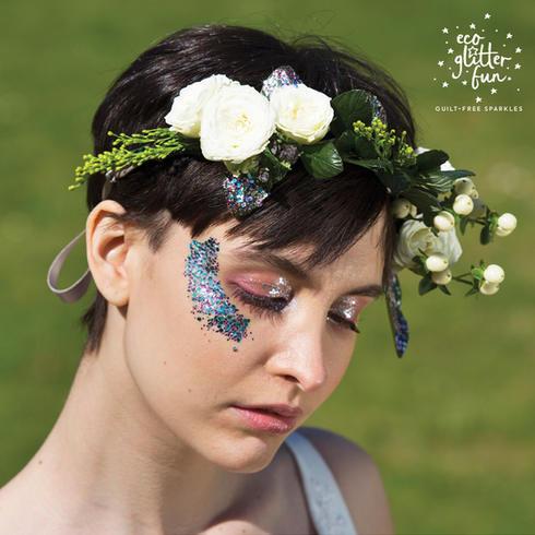 Festival eco glitter makeup ideas