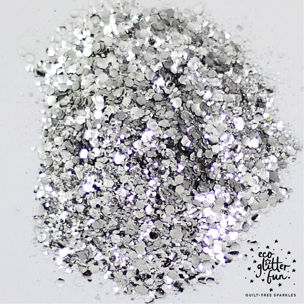 silver uber disco ball blend of BioGlitter