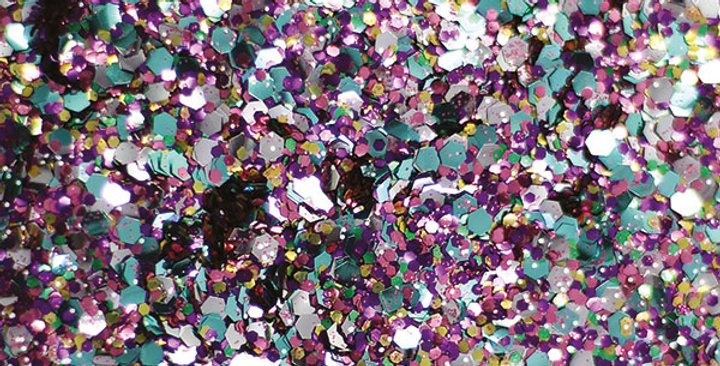 Merry-go-round blend of biodegradable glitter