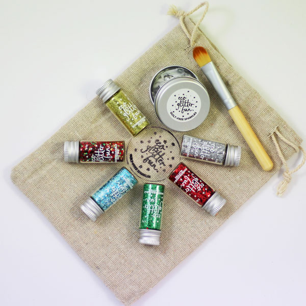 Eco Glitter Fun's eco glitter sets, suitable for face, body and crafts.