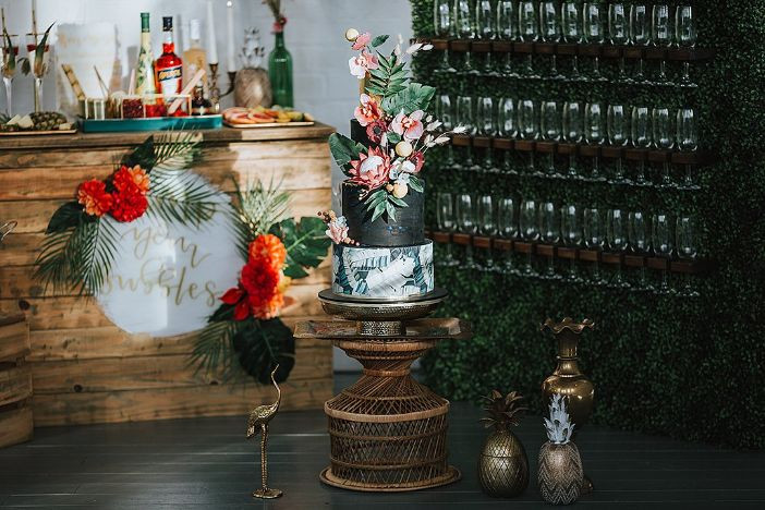 "Coastal Wedding Event Hire's ""Pimp Your Prosecco"" bar were strictly bamboo"