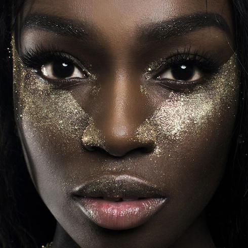 Golden disco ball eco glitter