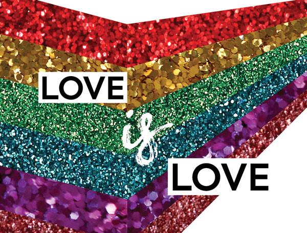 love is love - eco glitter fun support LGBT charities