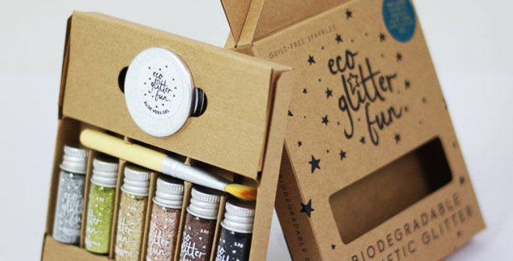 Boxed Metallic kit of biodegradable glitter