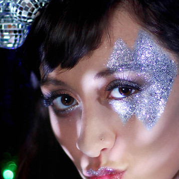 Easy Glitter Makeup Ideas for Christmas and New Year from Eco Glitter Fun