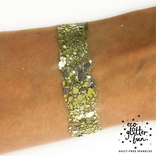 Arm swatch of our Studio 54 biodegradable eco glitter