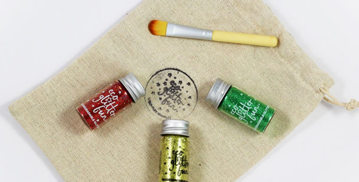 Christmas Craft Set of biodegradable glitter