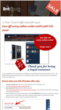 Email Marketing example for Doors