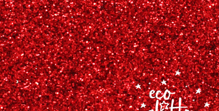 rojo standard, biodegradable glitter