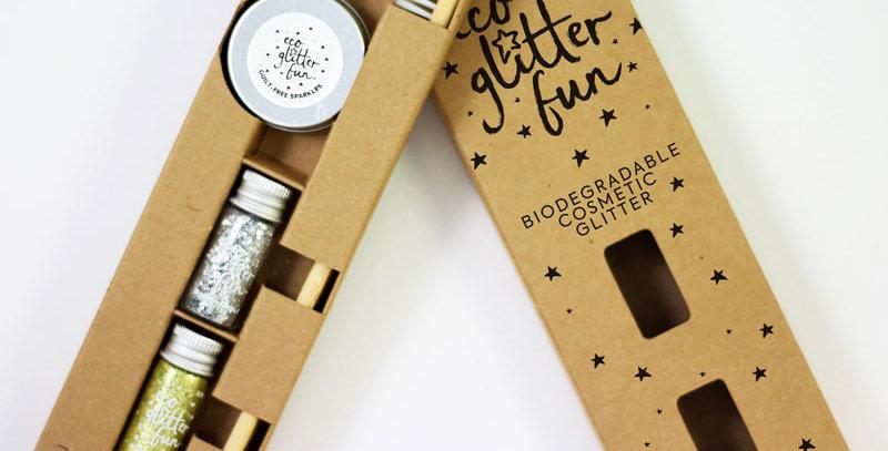 disco beards & braids kit of biodegradable glitter