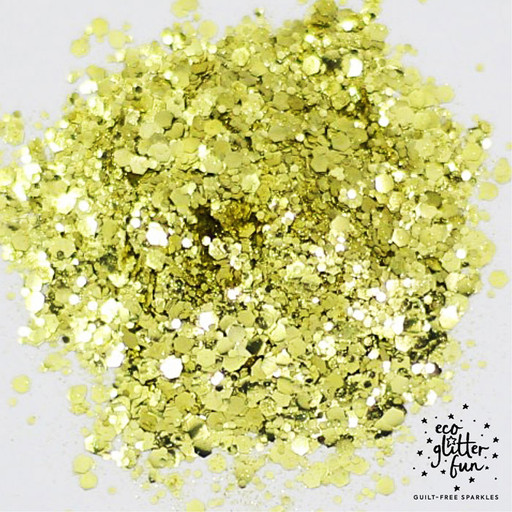 gold blend of vegan and biodegradable eco glitter from Eco Glitter Fun