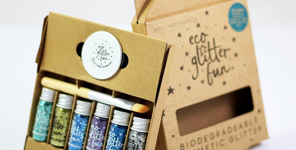 Boxed sky kit of biodegradable glitter