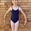Thumbnail: Child Navy Leotard with Logo Embroidered