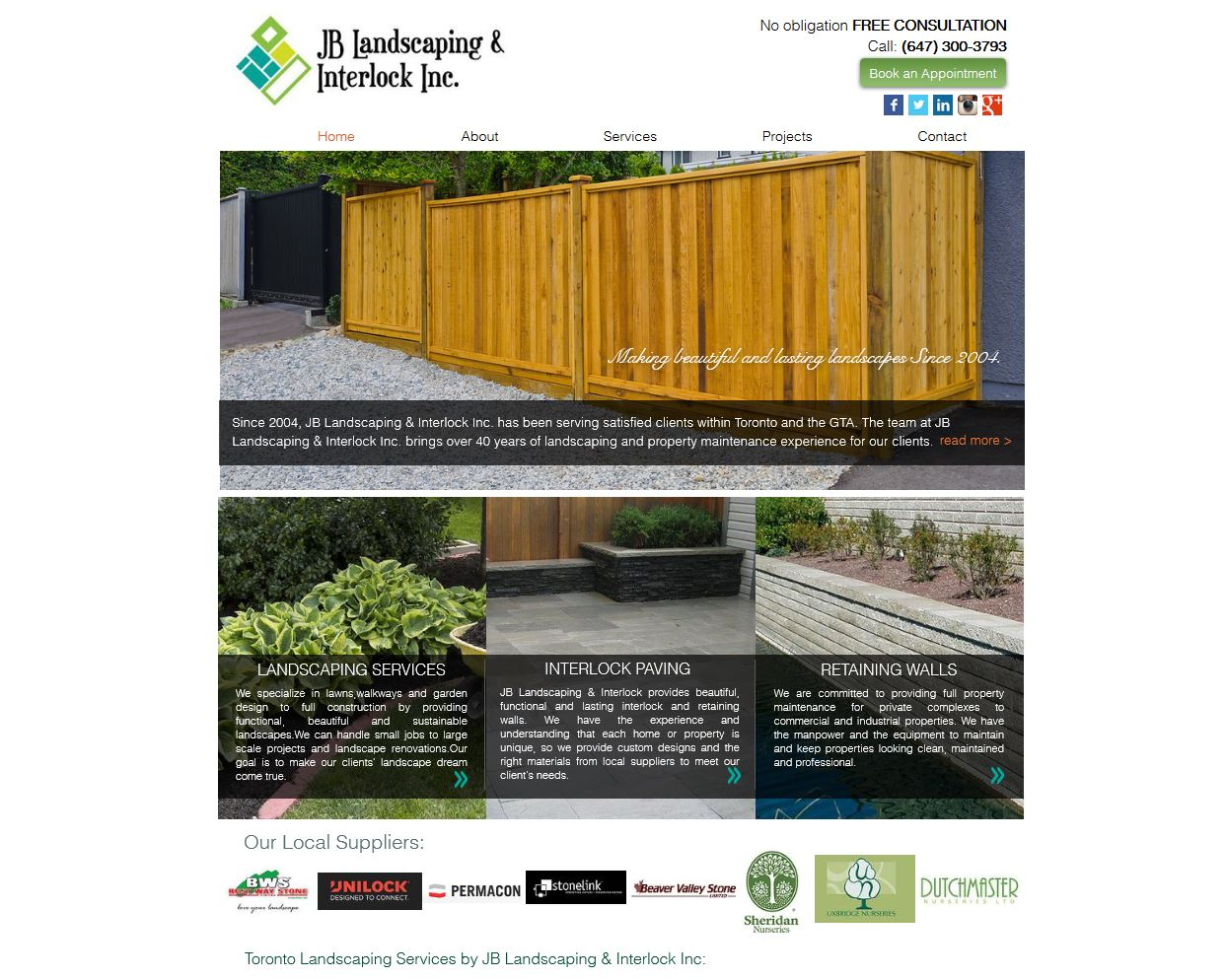 JB Landscaping and Interlock Inc.