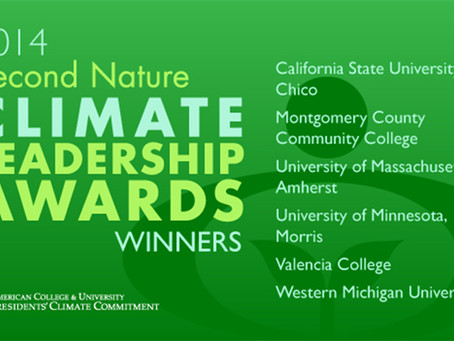 Morris Receives Second Nature Climate Leadership Award