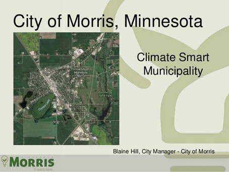 City of Morris, Climate Smart Municipality